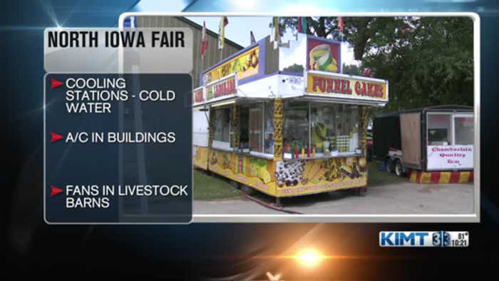 Beating the heat at the North Iowa Fair