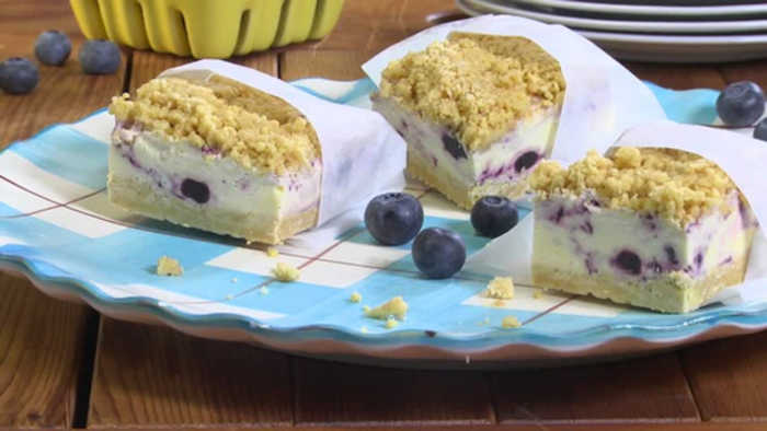 Blueberry-Lemon Ice Cream Sandwiches with Mr. Food