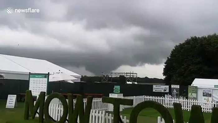 Tornado at Tatton Park flower show near Manchester