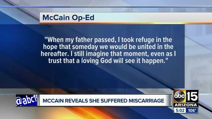 Meghan McCain discusses having miscarriage in New York Time piece