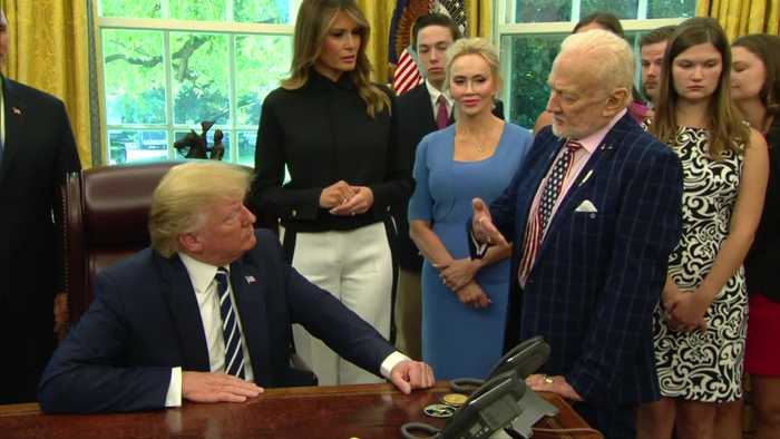 Buzz Aldrin tells Trump about his 'great disappointment'