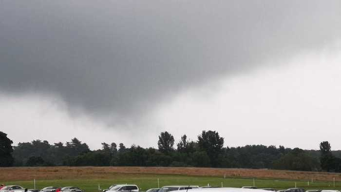 Funnel Cloud Forms in Greater Manchester, Damages Roofs and Cars