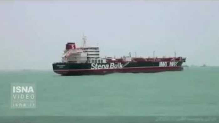 Footage of detained UK oil tanker emerges