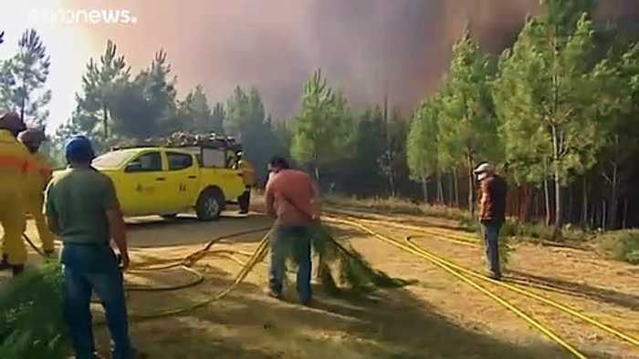 More than 800 firefighters battle wildfires in Portugal