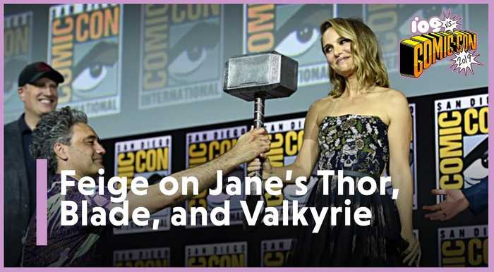SDCC 2019   Kevin Feige on Jane Foster (Natalie Portman) Becoming Thor and Mahershala Ali As Blade