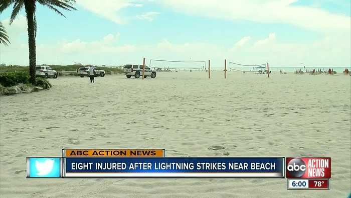Lightning strikes Clearwater Beach, injuring at least 8