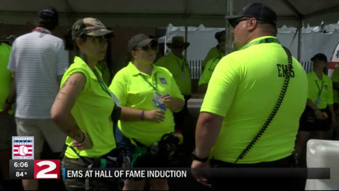 EMS preps for heat at Hall of Fame
