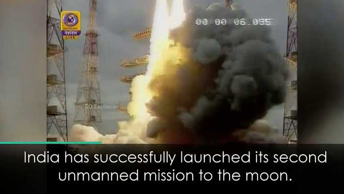 India launches unmanned moon mission