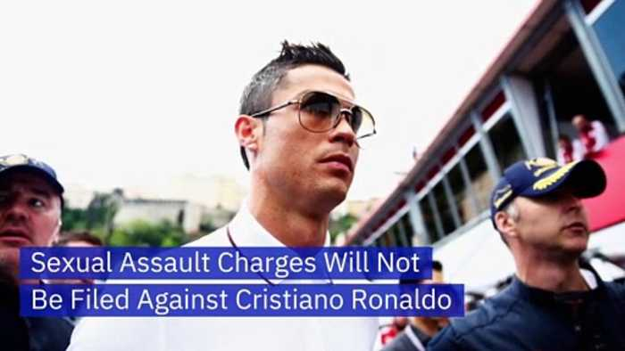 Sexual Assault Charges Will Not Be Filed Against Cristiano Ronaldo