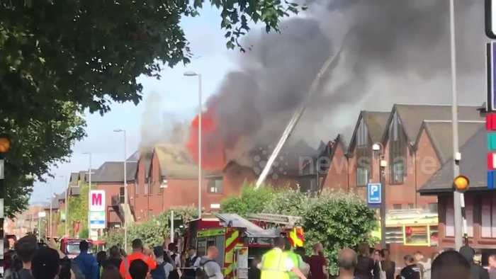 Sirens ring out as flames seen coming from shopping centre in Walthamstow