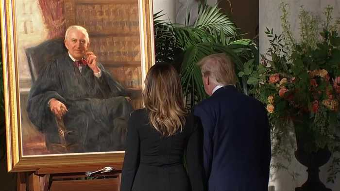 Trump pays respects to Supreme Court Justice Stevens