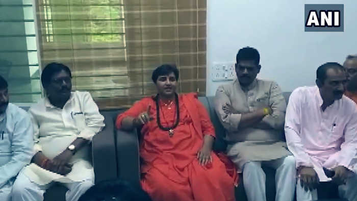 Not elected to have drains, toilets cleaned: MP Pragya Thakur to BJP workers