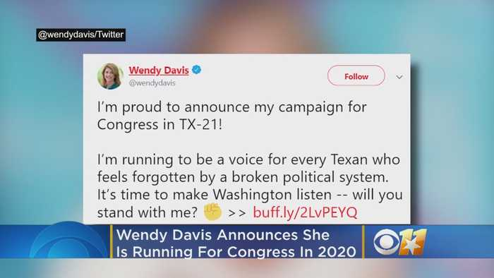 Texas Democrat Wendy Davis Running For Congress In 2020 Against Rep. Chip Roy