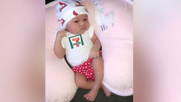 7-Eleven to Give $7,111 to Baby Born July 11 at 7:11 P.M., Weighing 7 Lbs. 11 Ozs.