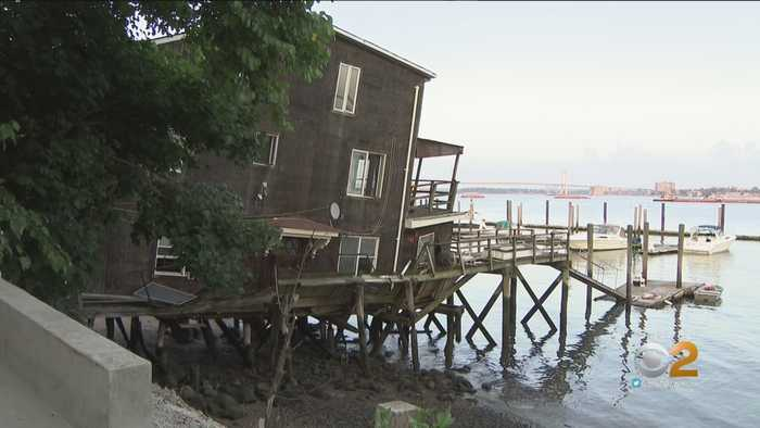 Bronx Home Sinking Into East River