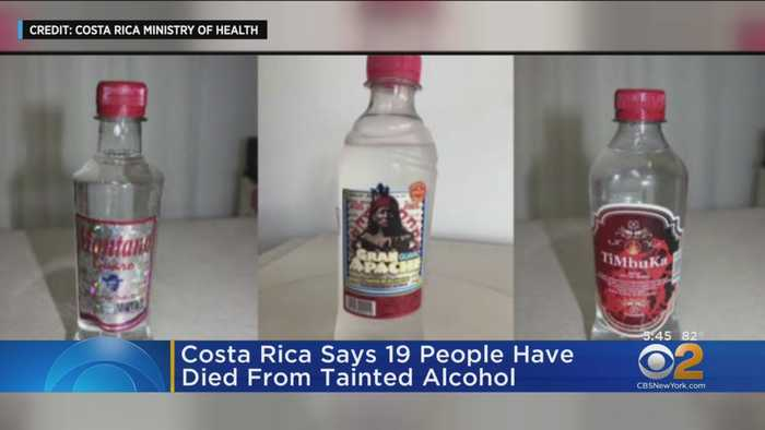 Costa Rice Says 19 People Have Died From Tainted Alcohol