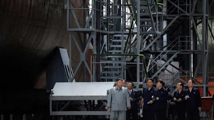 Kim Jong-Un Reportedly Inspects New Submarine