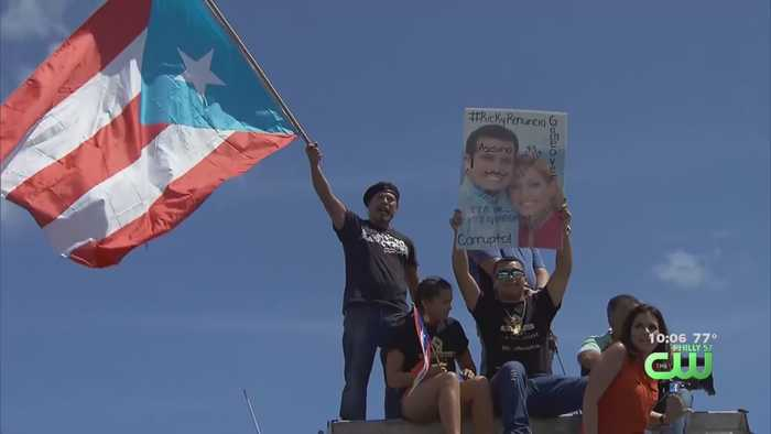 Puerto Ricans In Philadelphia Join Those Protesting Corruption In San Juan