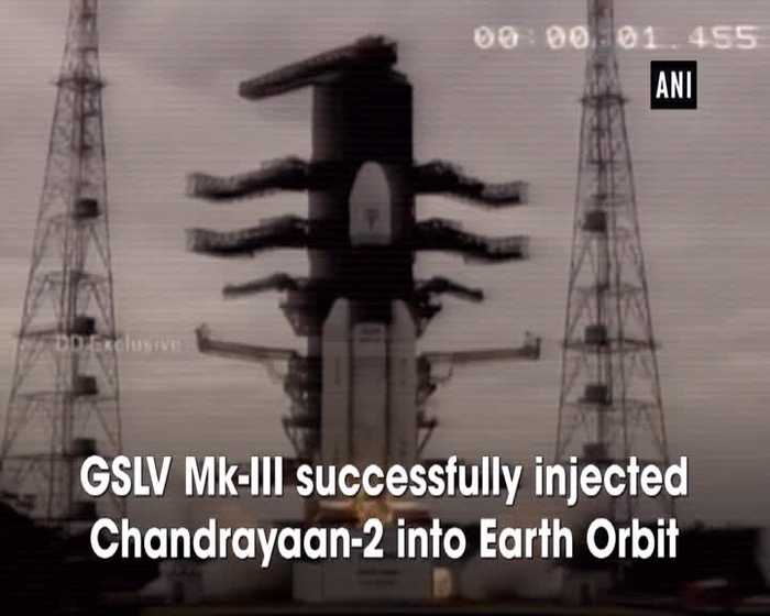 ISRO scientists celebrate after GSLV Mk-III injects Chandrayaan 2 spacecraft into Earth Orbit
