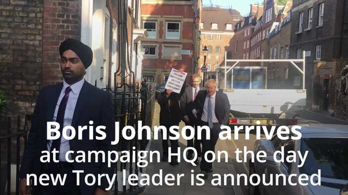Boris Johnson says it's 'all to play for' as Tory leadership result looms