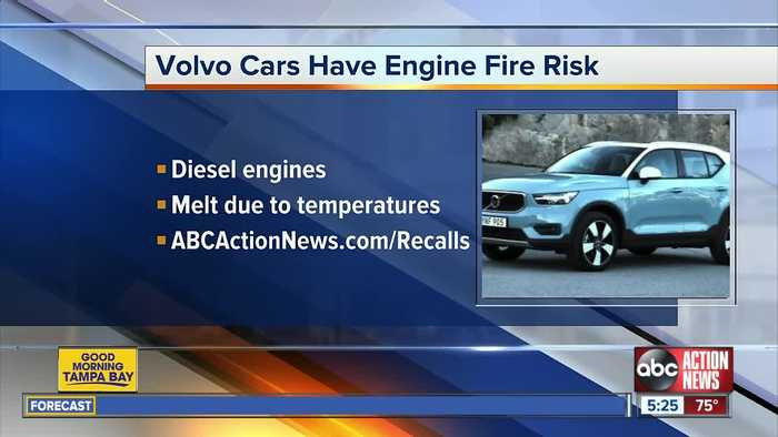 Volvo recalling 500,000 vehicles due to faulty engine part