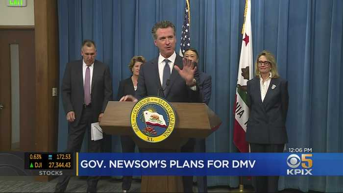 Newsom Says Wait Times Down At DMV, Announces More Changes