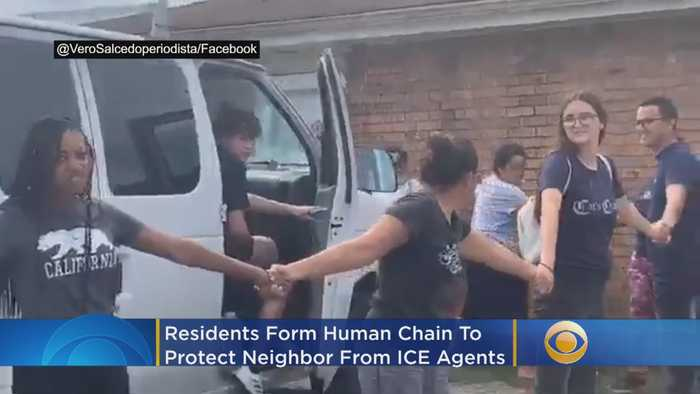 Residents Form Human Chain To Protect Neighbor From ICE Agents