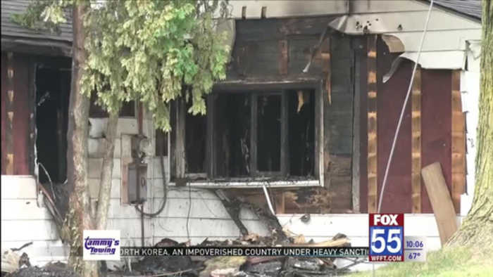 Fire hurts two people in Angola