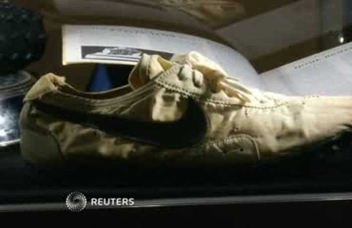Nike shoes fetch record $437,500 at auction