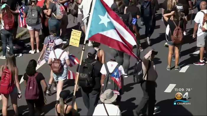 Protests Continue In Puerto Rico As Opposition Against Governor Rossello Grows