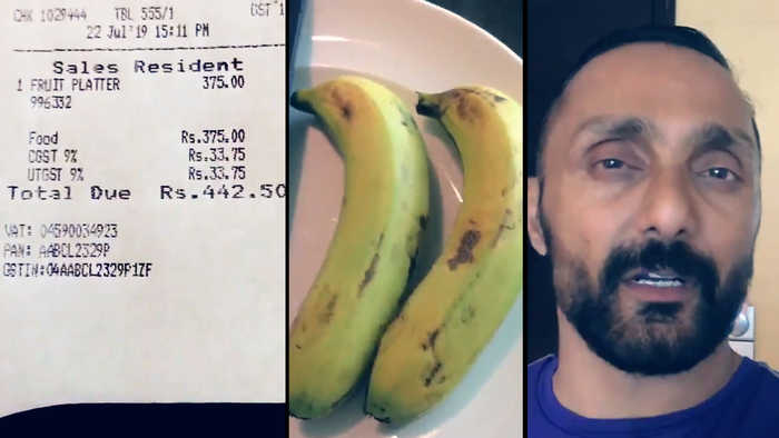 Rahul Bose charged Rs 442 for a pair of bananas at Chandigarh five-star hotel