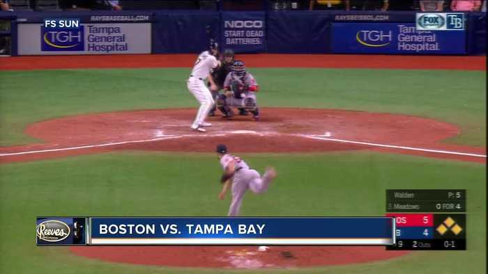 Boston Red Sox move pass Tampa Bay Rays into 2nd place in AL East for 1st time since March