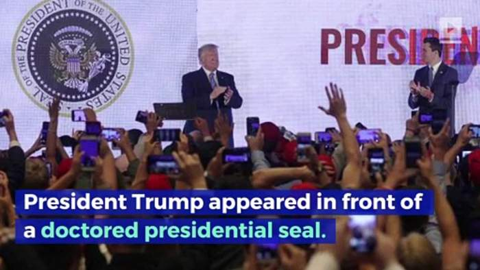 Fake Presidential Seal Trump Stood in Front of Created by a Former Republican