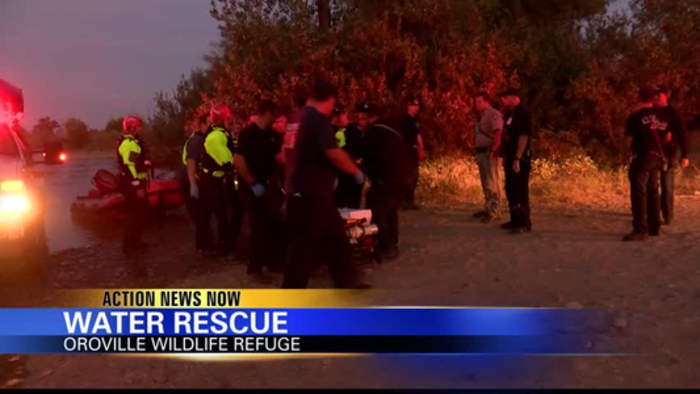 CAL FIRE responds to water rescue in Oroville