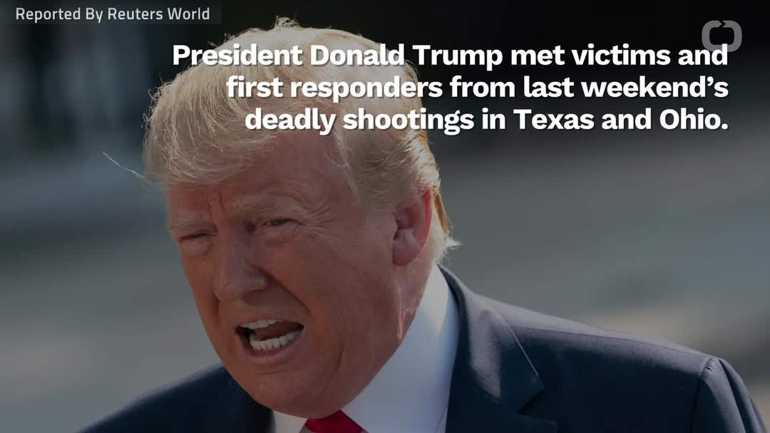 Protesters Tell Trump To 'Do Something' During His Visit To Mass Shooting Victims