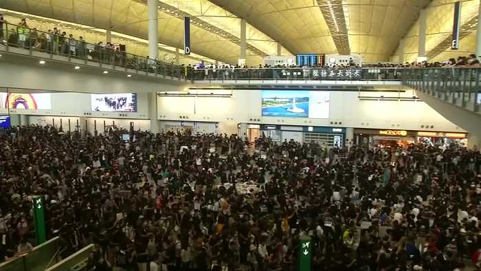 Cathay Pacific hit by Hong Kong protest links