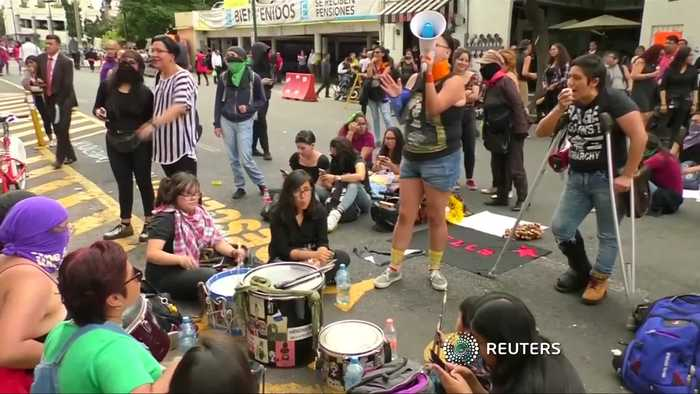 Mexico City protesters smash into official building