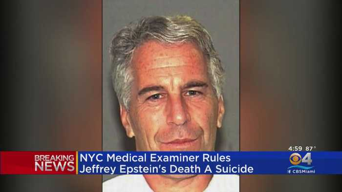 NYC Medical Examiner: Accused Sex Trafficker Jeffrey Epstein's Death Ruled Suicide By Hanging