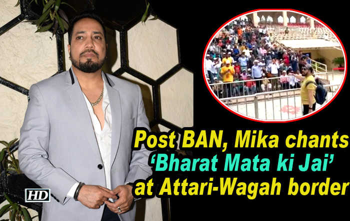 Post BAN, Mika chants 'Bharat Mata ki Jai' at Attari-Wagah border