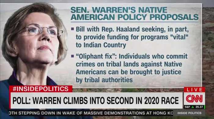 CNN panel discusses new Native American policy proposals from Warren