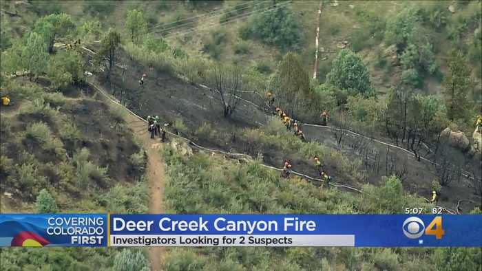 Crews Continue To Put Out Hot Spots At Deer Creek Canyon Park Fire