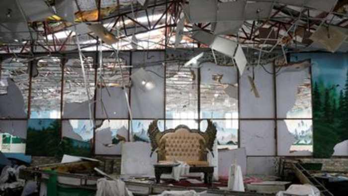Bomb blast kills 63 at a wedding in Kabul