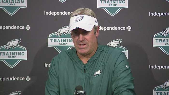 Eagles Head Coach Doug Pederson Speaks To The Media Sunday Morning