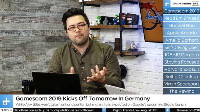 Digital Trends Live - 8.19.19 - Gamescom 2019 Schedule + Hypersonic Rocket Travel
