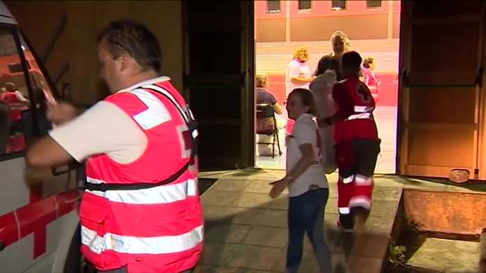 Hundreds evacuated as wildfire rages in the Canary Islands