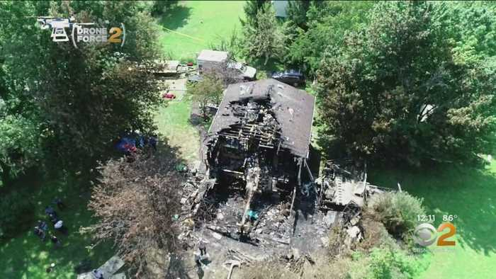 Drone Shows Damage From Deadly Plane Crash