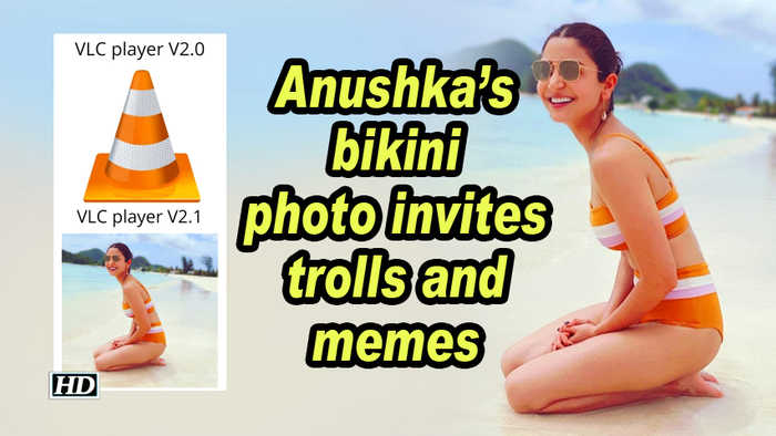Anushka's bikini photo invites trolls and memes