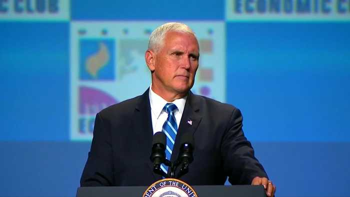 Pence urges China to respect HK laws amid protest