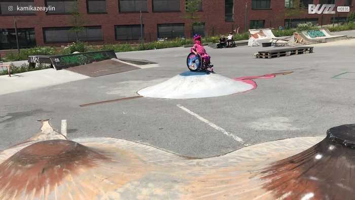 Paraplegic girl dreams of skate park glory