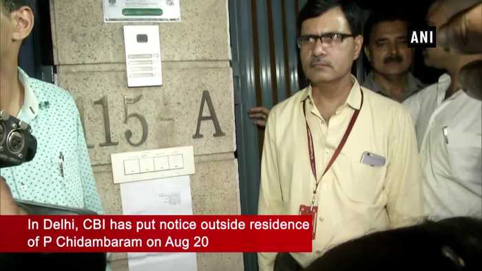CBI puts notice outside P Chidambaram's residence, asks to appear in 2 hours